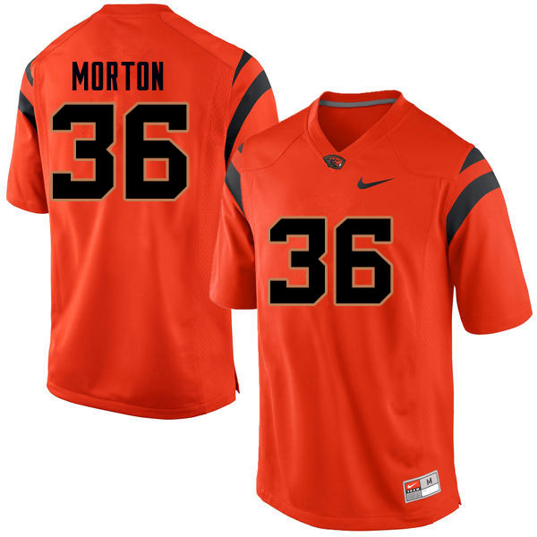 Men #36 Connor Morton Oregon State Beavers College Football Jerseys Sale-Orange