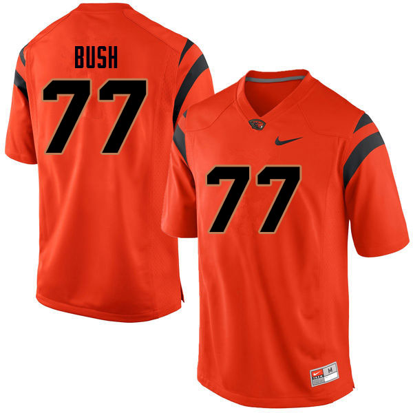 Men #77 Jaelen Bush Oregon State Beavers College Football Jerseys Sale-Orange