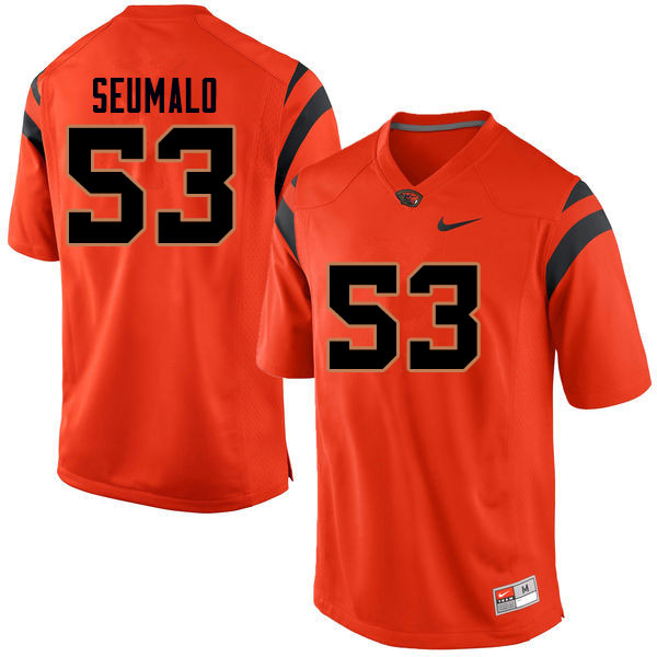 Men #53 Noah Seumalo Oregon State Beavers College Football Jerseys Sale-Orange