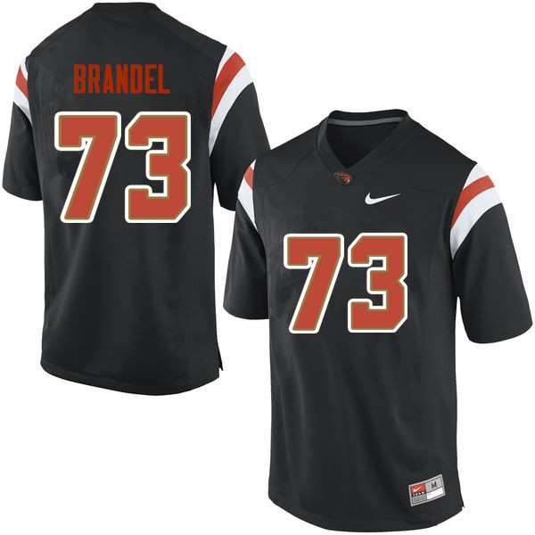 Men Oregon State Beavers #73 Blake Brandel College Football Jerseys Sale-Black