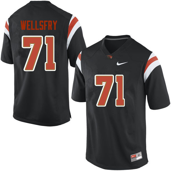 Men Oregon State Beavers #71 Brock Wellsfry College Football Jerseys Sale-Black