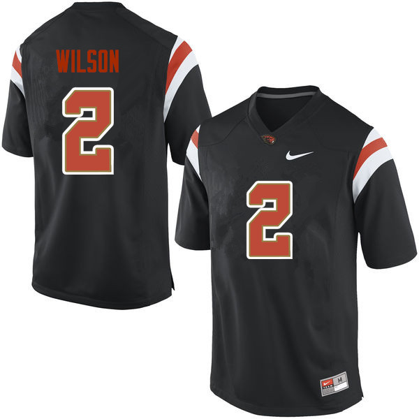 Men Oregon State Beavers #2 Shawn Wilson College Football Jerseys Sale-Black