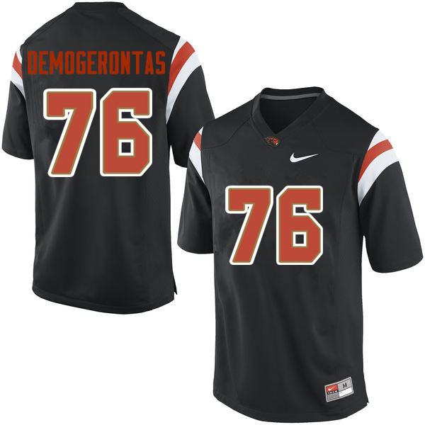 Men Oregon State Beavers #76 Yanni Demogerontas College Football Jerseys Sale-Black
